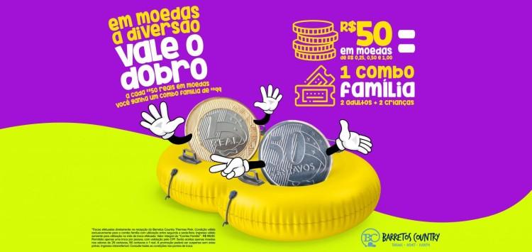 SUAS MOEDAS VALEM DIVERSÃO EM DOBRO NO BARRETOS COUNTRY